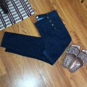 High waist Tapered leg jeans